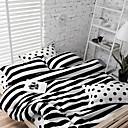fadfay @ modernen schwarzen und weißen Tupfen gestreifte Bettwäsche-Sets Mode Schleif Bettwäsche für Herbst und Winter