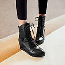 Womens Shoes Round Toe Wedge Heel Ankle Boots with Lace-up More Colors available