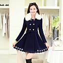 2014 el más nuevo de la moda las mujeres abrigo de doble botonadura abrigo de tweed de lana delgada capa de la señora de ajuste Xinfu ™ mujeres visten