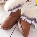 2014 botas nuevas botas de piel de un conejo imitación cálida piel de zorro de las mujeres Enthone am078 amarilla