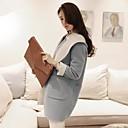 abrigo de tweed maternidad moda engrosada de la mujer