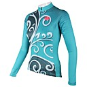 PaladinSport Women's Blue Tree Spring and Summer Style 100% Polyester  Long Sleeved Cycling Jersey