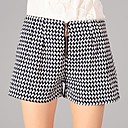 YOULANYASIWomens Zip Check Tweed Short Pants
