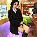 Womens Fashion Faux Fur  Coat
