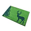 alces patrón alfombra de microfibra 45  65cm