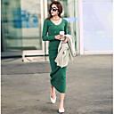 mokio causal coreano de la manera adelgazan el vestido de punto de las mujeres