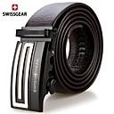 SWISSGEAE Mens G Pattern Buckle Automatic Leather Belts