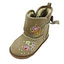 botas de los zapatos de confort botas para la nieve de los niños planos del talón a media pierna con cinta mágica