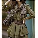 Womens Stylish High Wasit Layered Pleated Dress