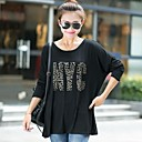 Womens  Plus Size Loose Long-Sleeved  T-Shirt(More Colors)