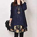 TS Womens Casual Two Piece Cut Out Loose Dress With Buttons