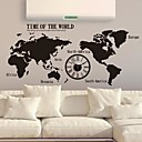 Wall Stickers Wall Decals,  Modern The map of the world creative clock PVC Wall Stickers