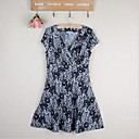 5PMWomen's New style  Slim Print Dress