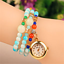 elegante de perlas de imitación de las mujeres de la amapola con el reloj pulsera de cristal