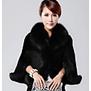 NUO WEI SI  Womens New Womens Faux Fur Coat With Fur Collar
