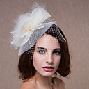 Organza Wedding/Special Occasion Flower Headpiece With Feather(More Colors)