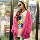 2014 de manga larga con cuello en V nueva moda cardigans gruesos sueltos de las mujeres