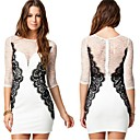 AILAIKE Womens Clothing Vestidos Femininos Vintage Plus size Bodycon Dress White Lace Sexy Dresses XXL