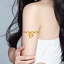 2pcs de la joyería del corazón del brillo del oro pegatinas tatuaje tatuajes temporales