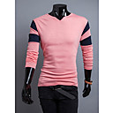 GMIG Men's Long Sleeve Slim Causual Constrast Color T-Shirts