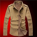Men's Autumn New Cotton Thicken Warm Casual Stylish Army Style Long Sleeve Shirts