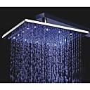 10 pulgada cuadrada de cromo 3 colores LED de temperatura sensible precipitaciones cabezal de ducha