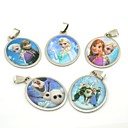 Frozen Olaf Snowman Ann Princess Keychains Pendants (5pcs / lot)