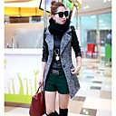 Womens Autumn Outfit Show Thin Wool Coat Outerwear