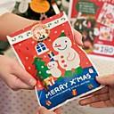 10 piezas del muñeco de nieve de Navidad bolsas de regalo del bebé