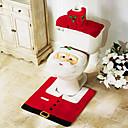 3 piezas de accesorios de baño de navidad, asiento del inodoro inodoro 1pc 1pc soporte de papel alfombra de baño 1pc