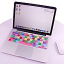 """colorido suave teclado de silicona protector de la piel cubierta para macbook mac 13.3 """"15.4"""" 17 """"nosotros modelo"""