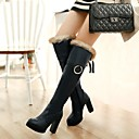 Womens Shoes Platform Round Toe Chunky Heel Knee High Boots with Lace-up More Colors available