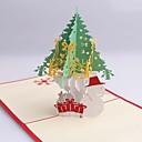 árbol de navidad y muñeco de nieve de dimensiones tarjetas de Navidad
