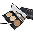 3 Color 5in1 Professional Concealer/Foundation/Blusher/Bronzer Makeup Cosmetic Palette with MirrorBrush Set