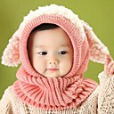 Childrens Warm Fashion Dog Woolen Cape Shawl Cap with Scarves for 6-36 Months