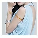 2pcs ancho pegatinas mariposa joyas pulsera de oro brillo del tatuaje tatuajes temporales
