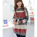 Womens stripes Knitted Sweater