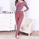 Womens Sexy Round Collar Modal Suits  Thermal Underwear