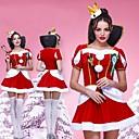 belleza campeón concurso de Miss etiqueta franela roja traje de navidad