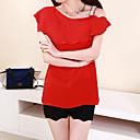 alrededor del cuello de camisa de estilo occidental camisa de las mujeres aosishan