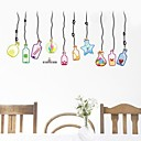 Fashionable PVC Colorful Drift Bottle Wall Stickers