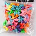 100pcs arco iris de cuentas goma 100pcs arco iris del estilo telar pulseras accesorios ciruela (color al azar)