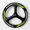 aurora carreras 3 habló ruedas de carbono 70mmtubular 700c de la bici del camino / bicicleta de la rueda delantera