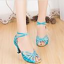 Latin Customizable Womens Sandals Customizable Heel Satin Rhinestone Dance Shoes(More Colors)