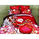 shuian Bettbezug-Set, 4 Stück Anzug Twill 100% Baumwolle 3d Ölgemälde Bettwäsche-Sets Bettwäsche Bettwäsche Blattsätze