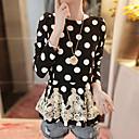 City Style WomenS Lace Chiffon Shirt