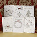 Red Silver Christmas Card
