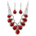 Personalized Alloy With Elegant Rhinestone Wedding Jewelry Set Including Necklace, Earrings