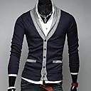Mens Slim V Neck Contrast Color Sweater