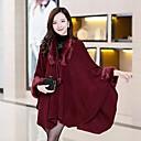 TS Womens Fashion Faux Fur Collar Cape Coat